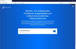 Startseite des Jitsi-Servers
