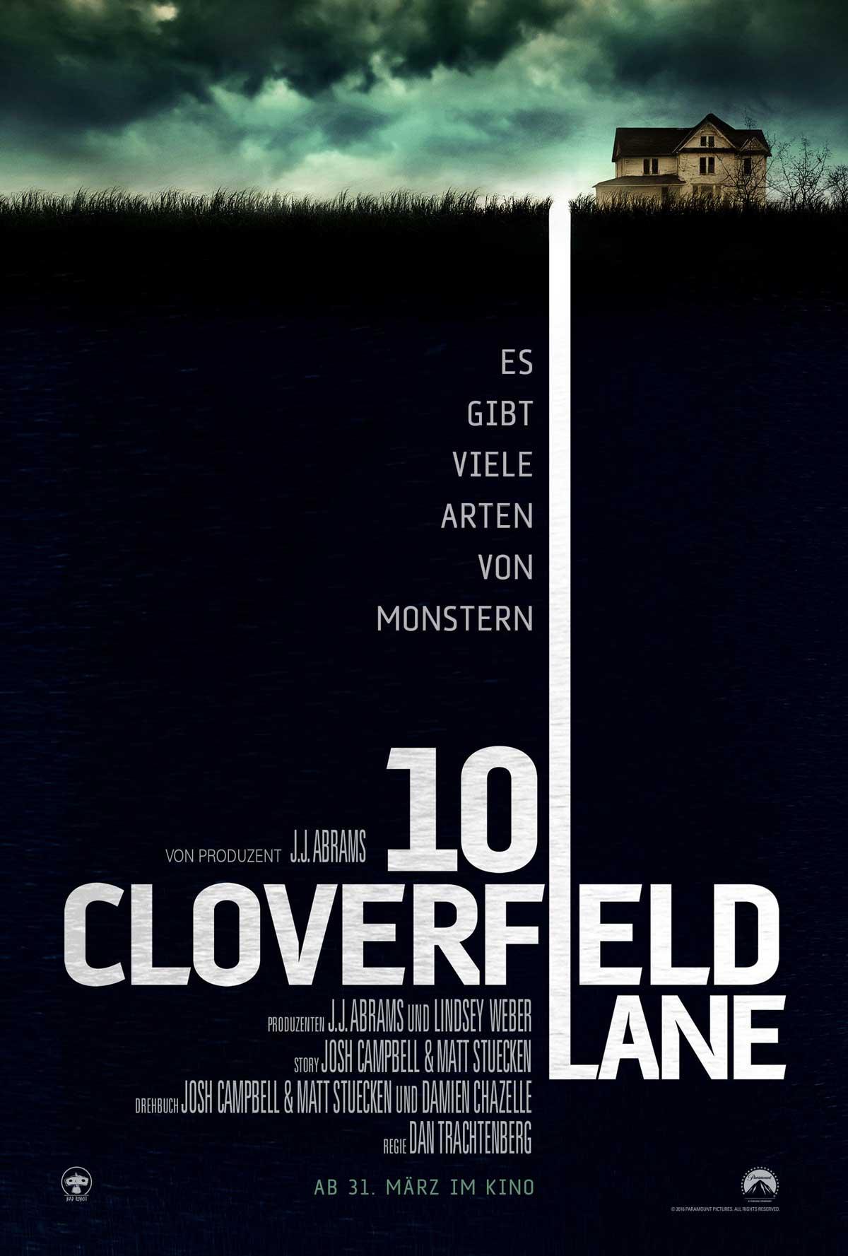 Plakatausschnitt Cloverfield Lane